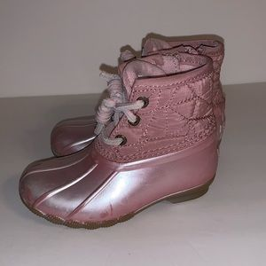 Sperry Saltwater Boots Pink Play Condition